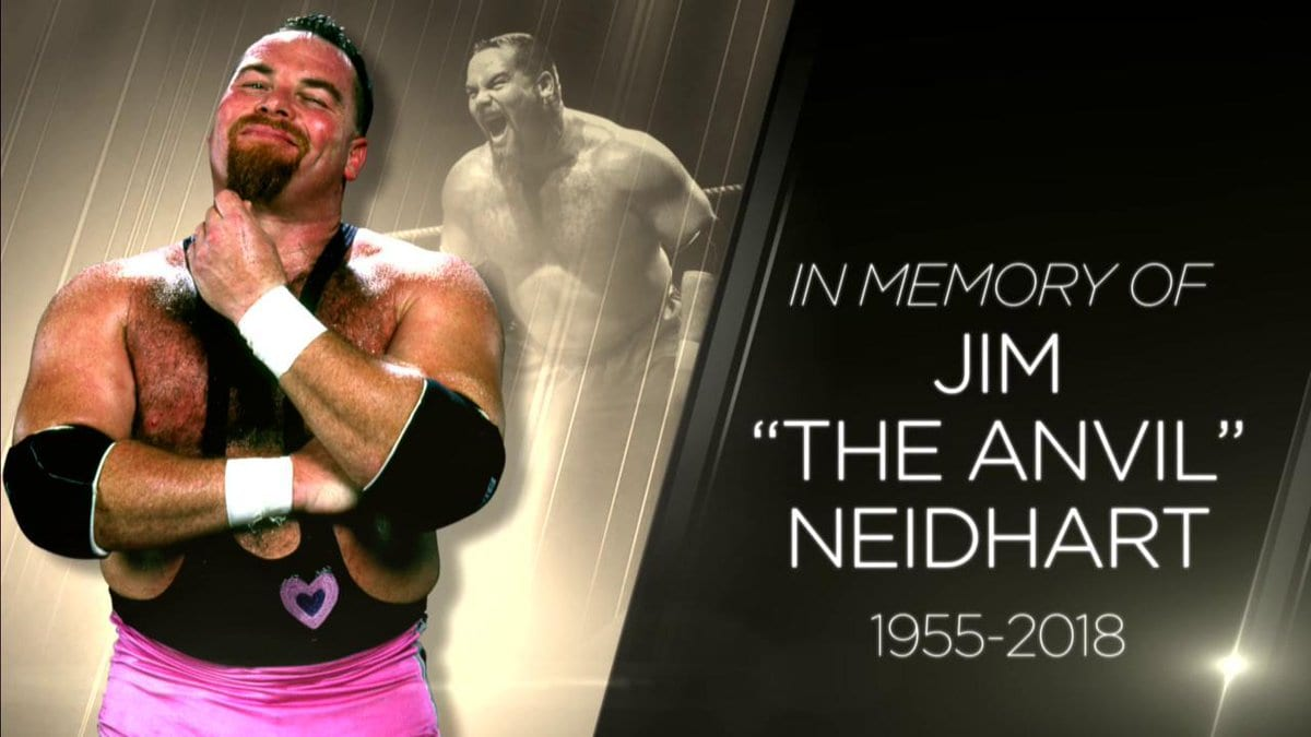 Jim The Anvil Neidhart WWE Tribute Graphic RAW 2018
