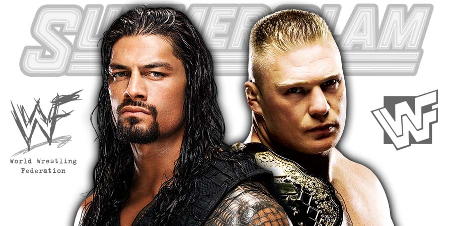 Roman Reigns vs. Brock Lesnar IV Universal Championship Match SummerSlam 2018 PPV