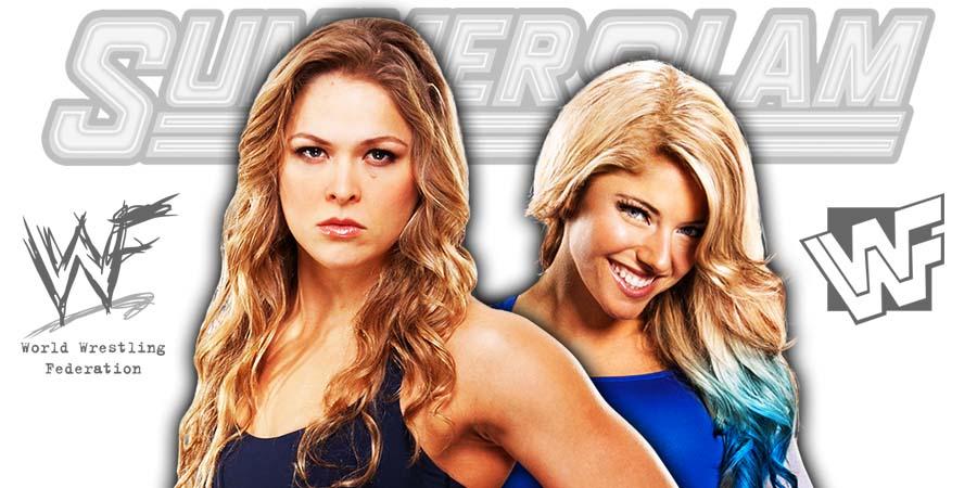 Ronda Rousey defeats Alexa Bliss to win the RAW Women's Championship at SummerSlam 2018