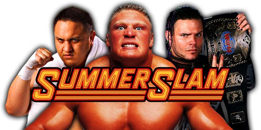 Samoa Joe Brock Lesnar Jeff Hardy SummerSlam 2018