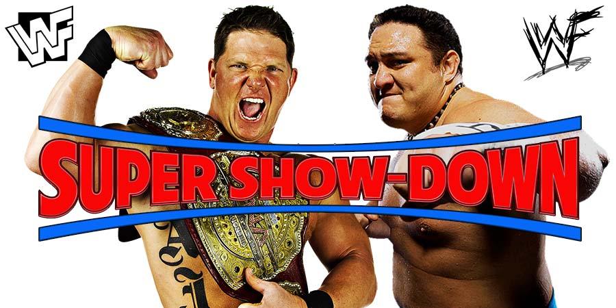 AJ Styles vs. Samoa Joe - WWE Super Show-Down (WWE Championship Match)
