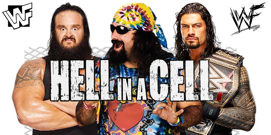 Braun Strowman Mick Foley Roman Reigns Hell In A Cell 2018