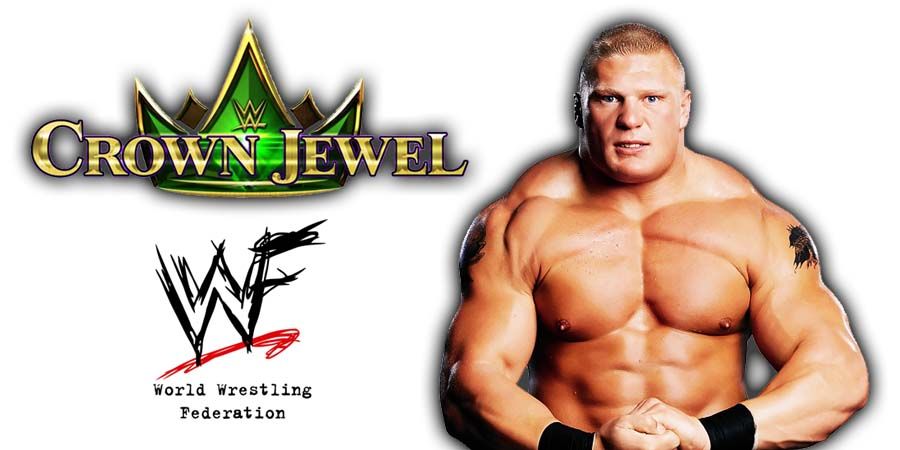 Brock Lesnar WWE Crown Jewel PPV Saudi Arabia 2018