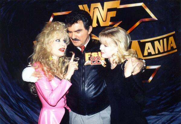 Burt Reynolds At WWF WrestleMania 10 1994