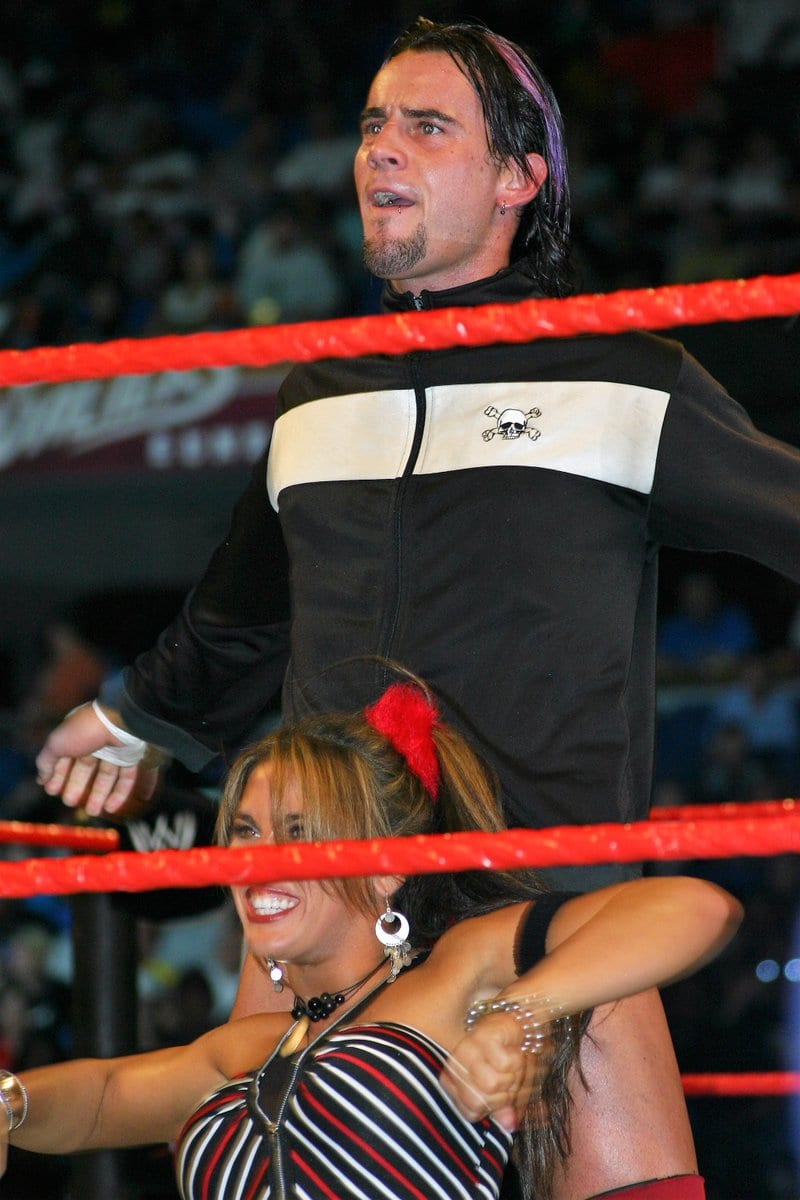 CM Punk Mickie James RAW Dark Match 2005
