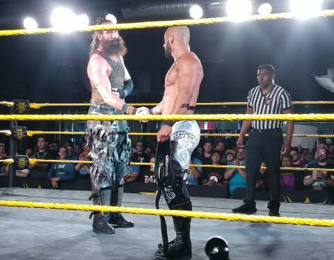 Luke Harper returns to NXT to face Ricochet for the NXT North American Championship