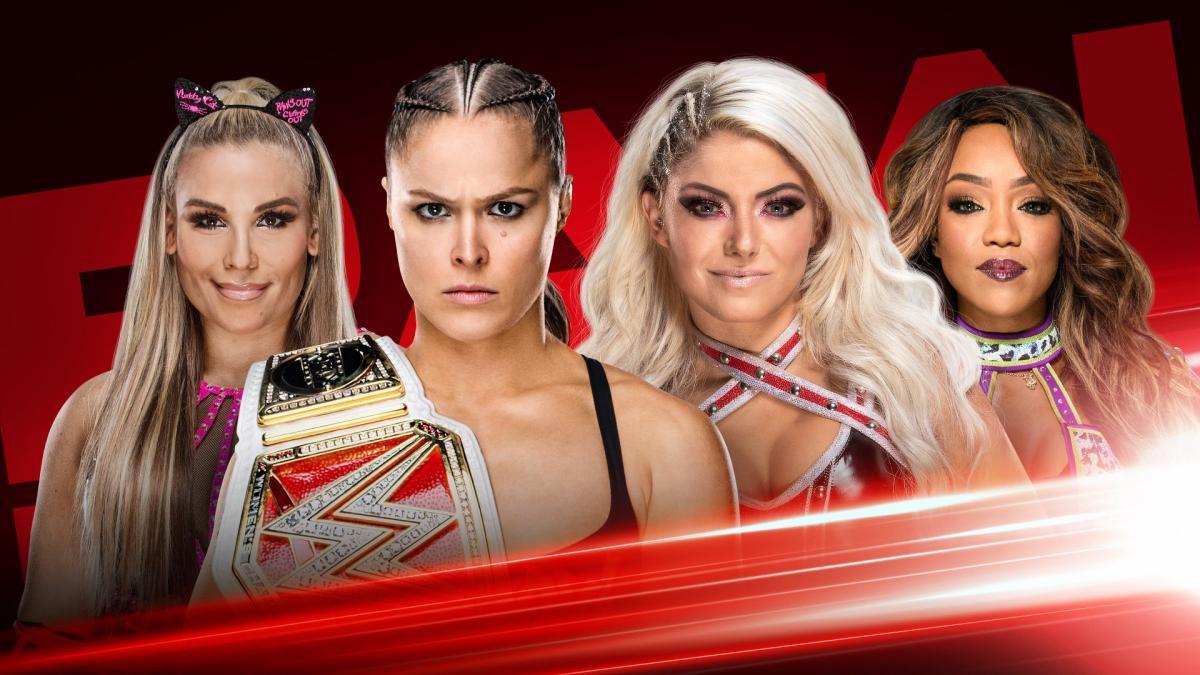 RAW Women's Champion Ronda Rousey Natalya Alexa Bliss Alicia Fox