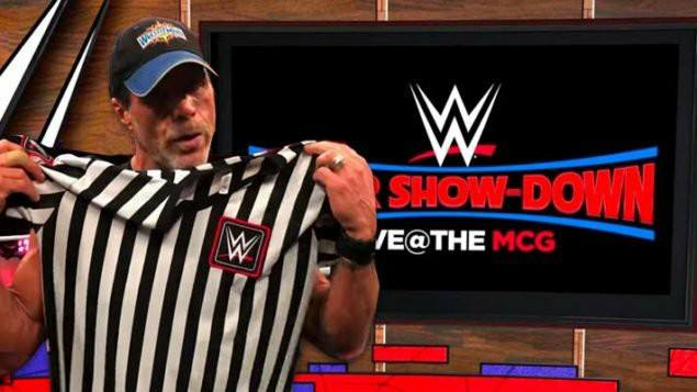Shawn Michaels Special Guest Referee The Undertaker vs. Triple H WWE Super Show-Down