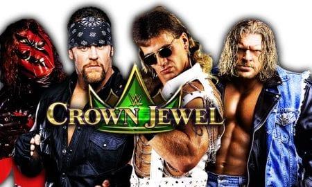The Undertaker & Kane (Brothers of Destruction) vs. Triple H & Shawn Michaels (D-Generation X) WWE Crown Jewel PPV Saudi Arabia 2018