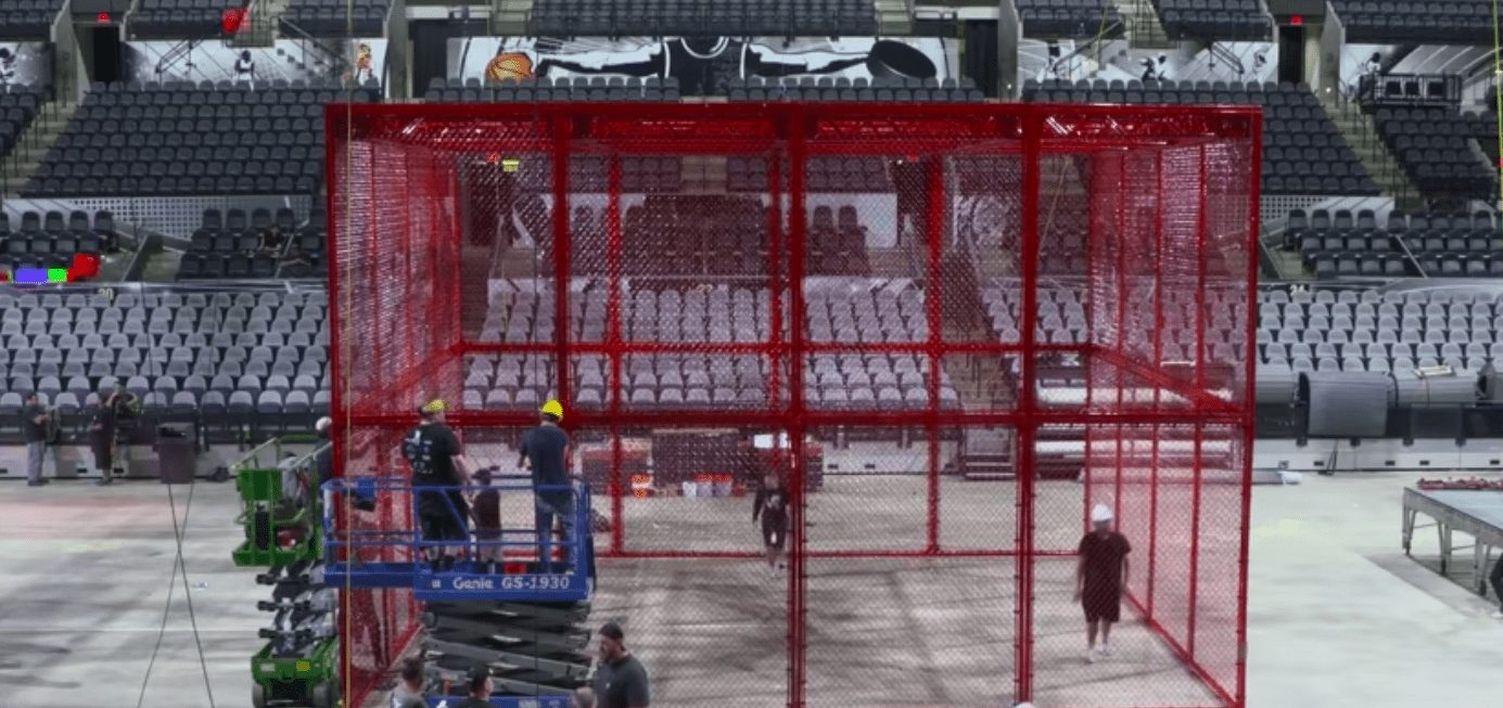 WWE Debut New Hell In A Cell Structure Red Color 2018