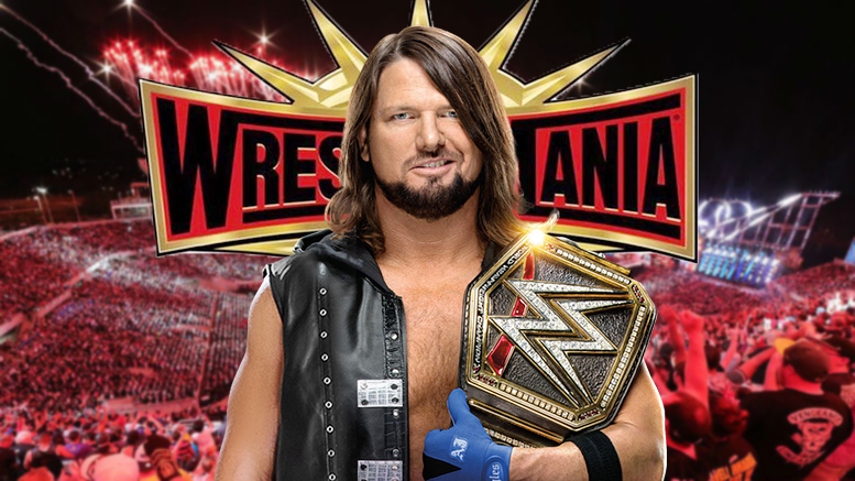 AJ Styles WWE Champion WrestleMania 35