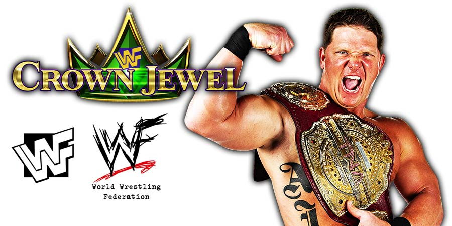 AJ Styles WWE Crown Jewel