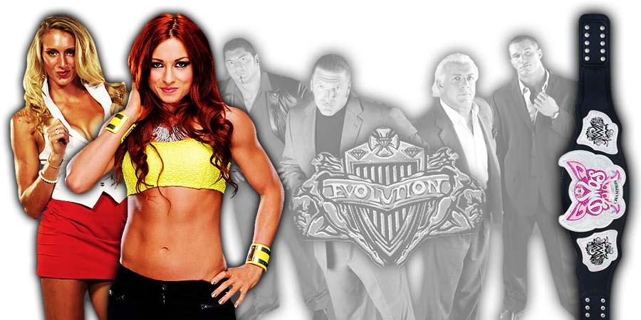 Becky Lynch vs. Charlotte Flair WWE Evolution