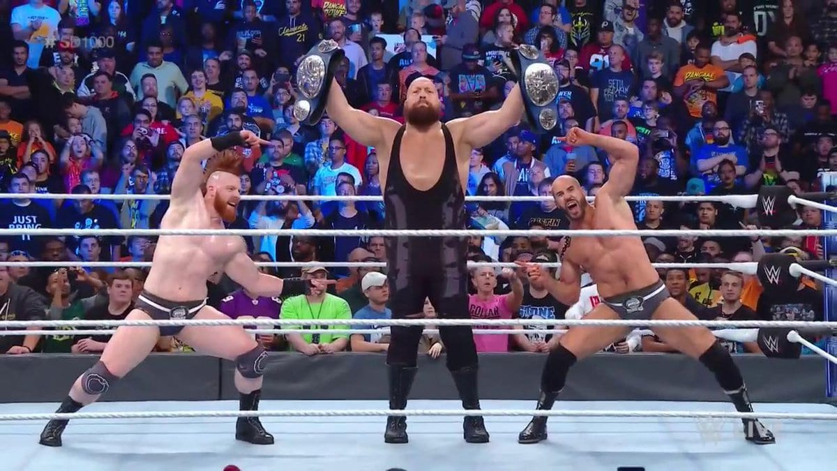 Big Show Sheamus Cesaro SmackDown Tag Team Champions SmackDown 1000