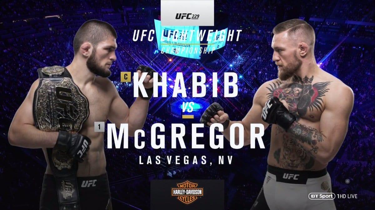 Conor McGregor vs. Khabib Nurmagomedov - UFC 229