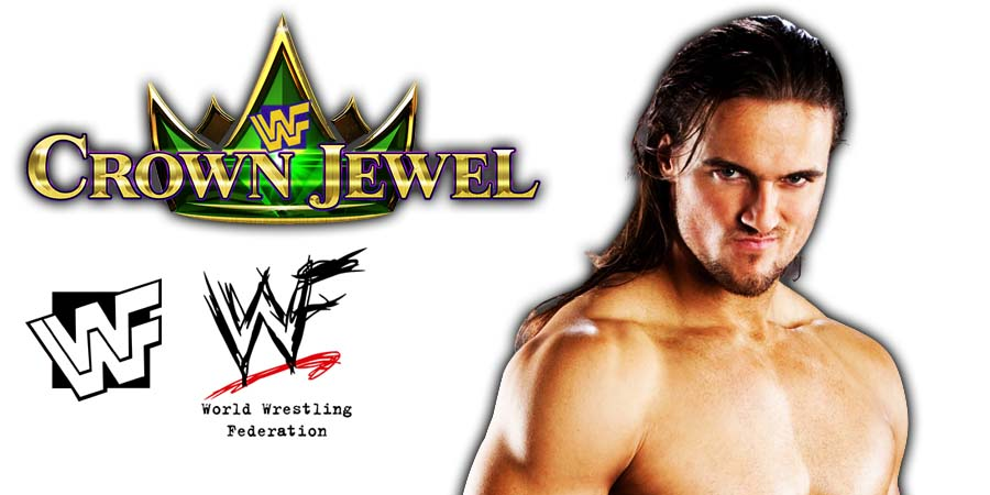Drew McIntyre WWE Crown Jewel PPV Saudi Arabia 2018