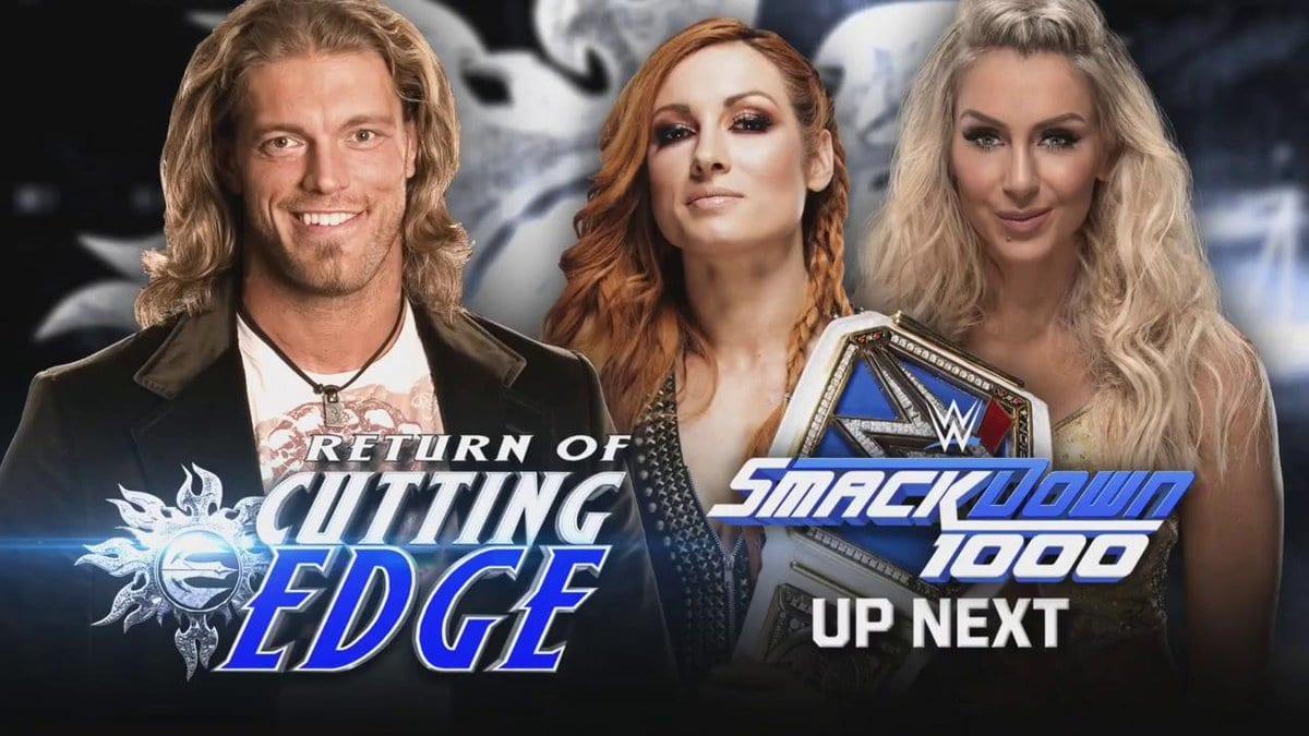 Edge SmackDown 1000 Cutting Edge Segment With Becky Lynch Charlotte Flair