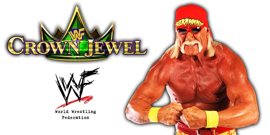 Hulk Hogan WWE Crown Jewel Return Confirmed 2018