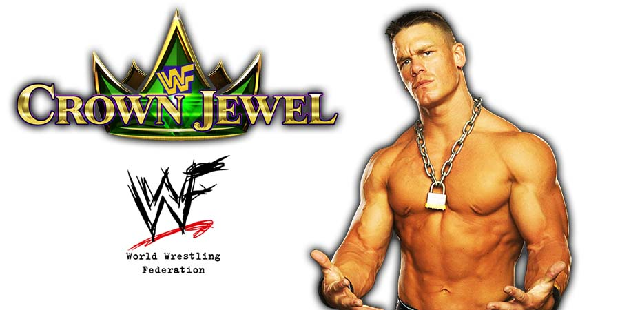 John Cena WWE Crown Jewel PPV Saudi Arabia 2018