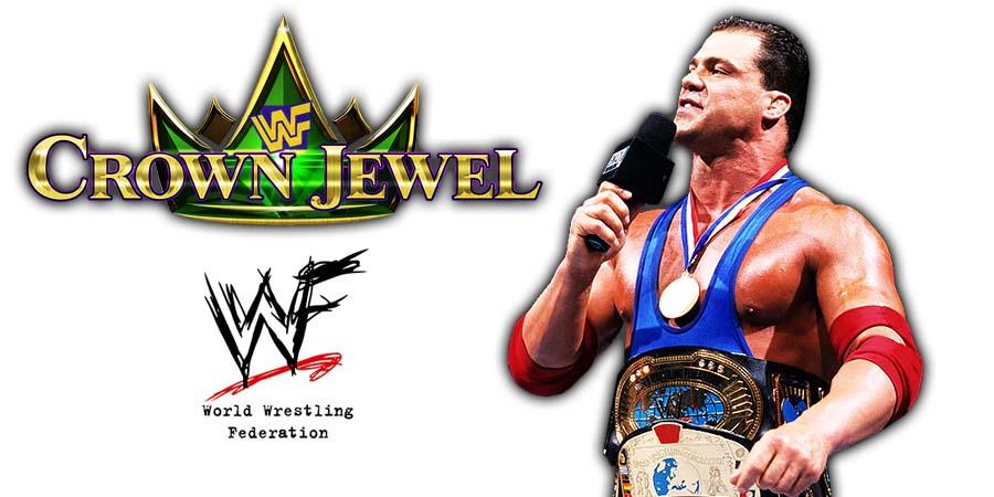 Kurt Angle WWE Crown Jewel PPV Saudi Arabia 2018