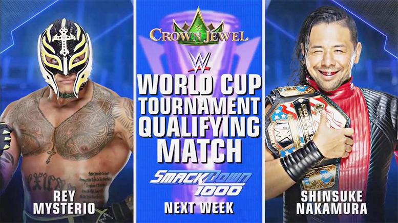 Rey Mysterio vs. Shinsuke Nakamura - SmackDown 1000