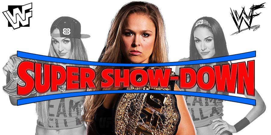 Ronda Rousey Nikki Bella Brie Bella Bella Twins WWE Super Show-Down
