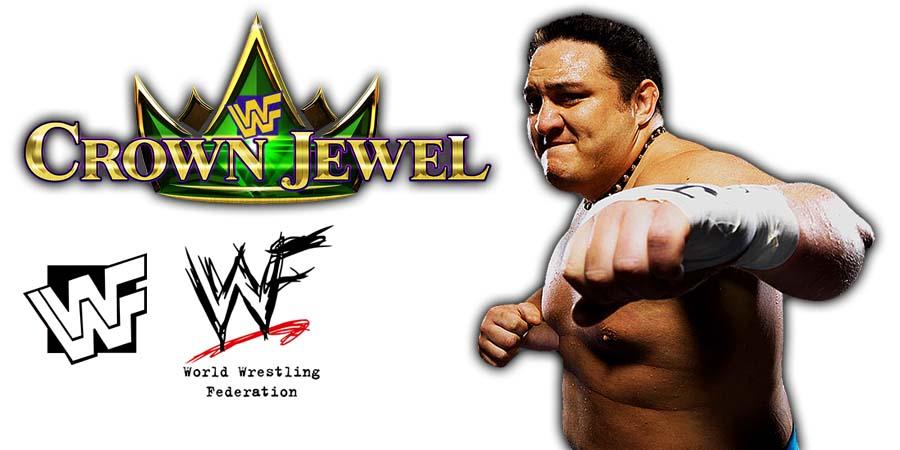 Samoa Joe WWE Crown Jewel PPV Saudi Arabia 2018