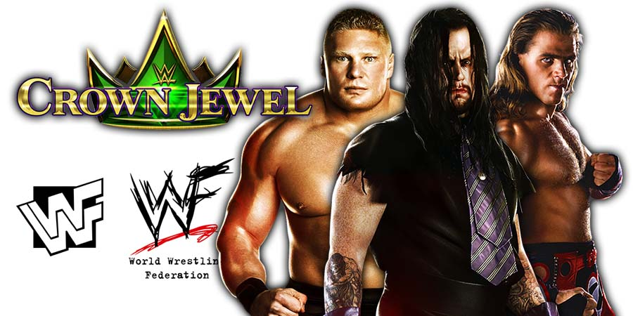 Shawn Michaels Brock Lesnar The Undertaker WWE Crown Jewel Salaries