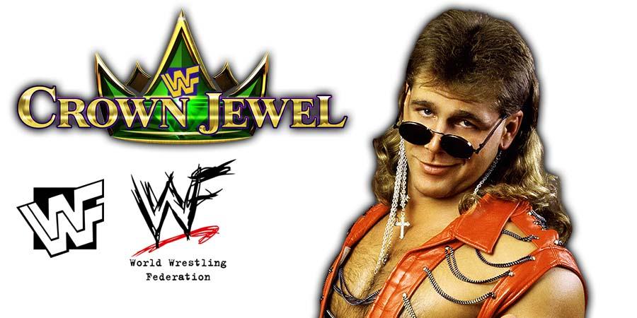 Shawn Michaels WWE Crown Jewel PPV Saudi Arabia