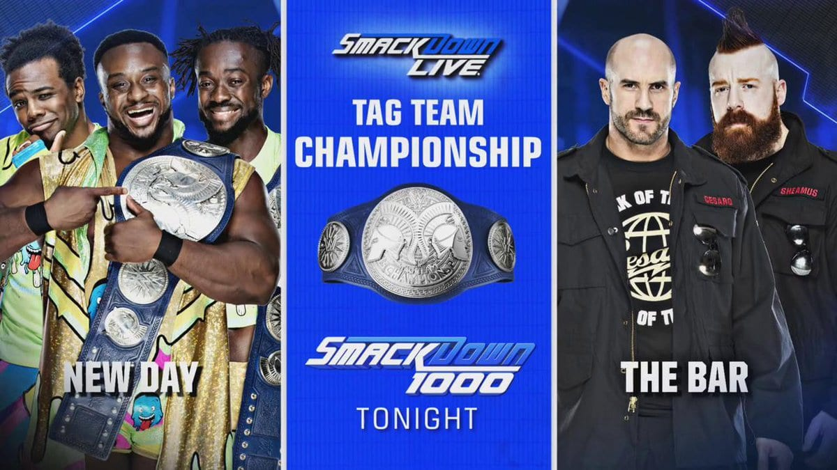 The New Day vs. The Bar - SmackDown 1000 (SmackDown Tag Team Championship Match)