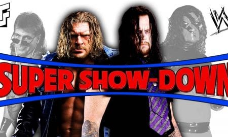 The Undertaker Triple H Kane Shawn Michaels WWE Super Show-Down 2018 Result
