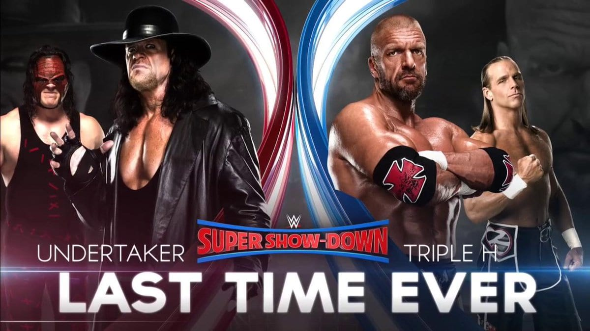 The Undertaker (with Kane) vs. Triple H (with Shawn Michaels) - Last Time Ever (WWE Super Show-Down)