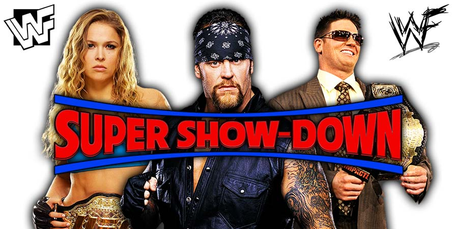 WWE Super Show-Down (Live Coverage & Results) - The Undertaker vs. Triple H - Last Time Ever
