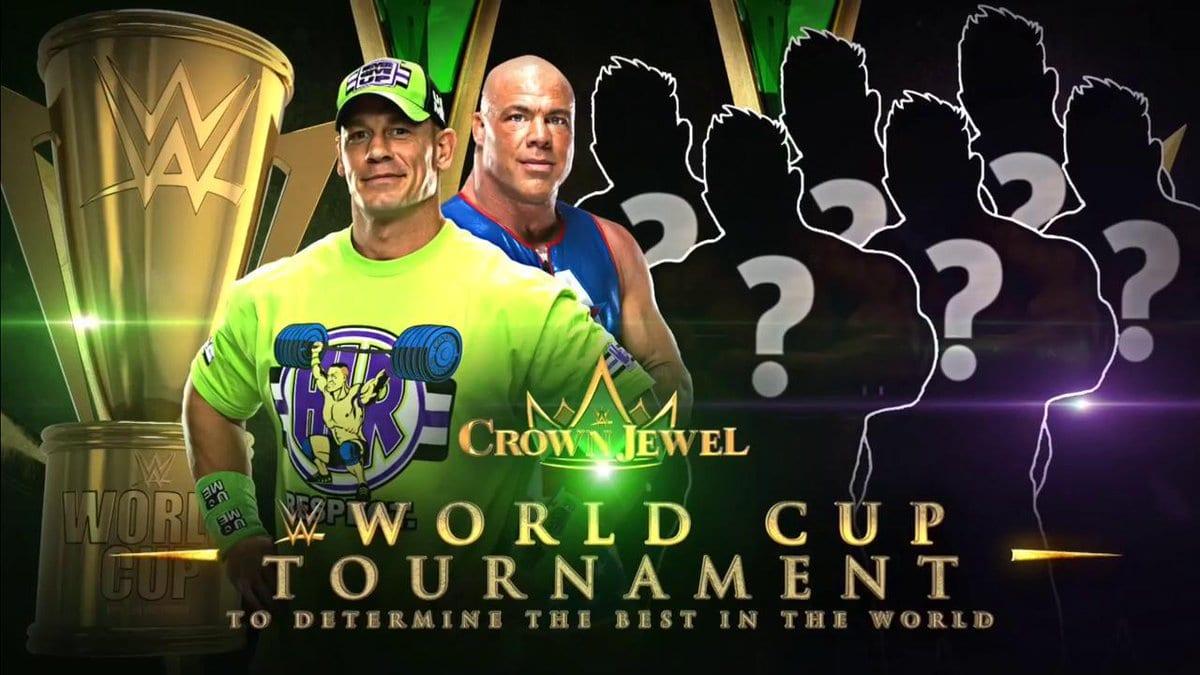 WWE World Cup John Cena Kurt Angle WWE Crown Jewel