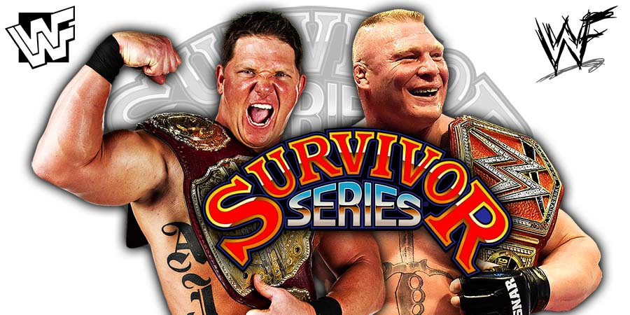 AJ Styles Was Originally Scheduled To Defeat Brock Lesnar At Survivor Series 2018