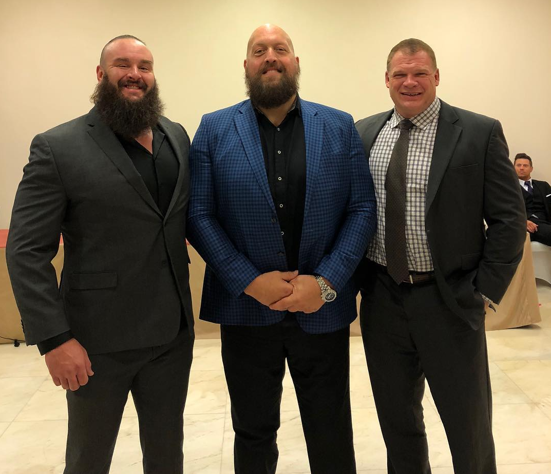 Braun Strowman The Big Show Kane In Saudi Arabia for WWE Crown Jewel 2018