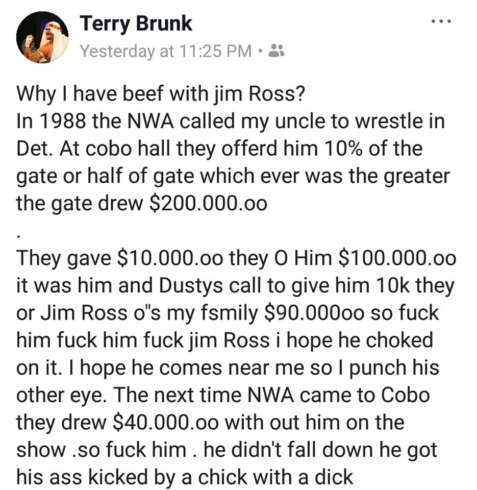 Sabu Explains Why He Has A Beef With Jim Ross