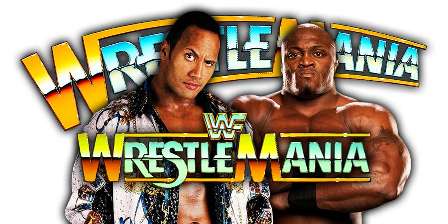 The Rock Bobby Lashley WrestleMania