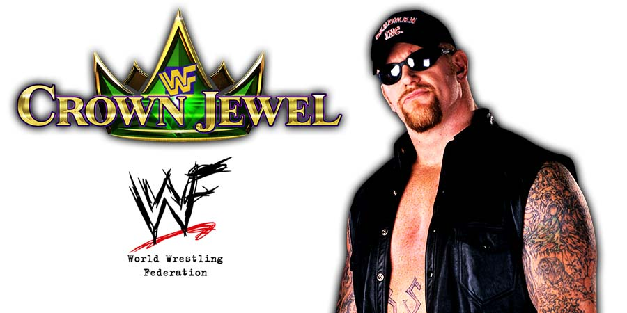 The Undertaker WWE Crown Jewel PPV Saudi Arabia 2018