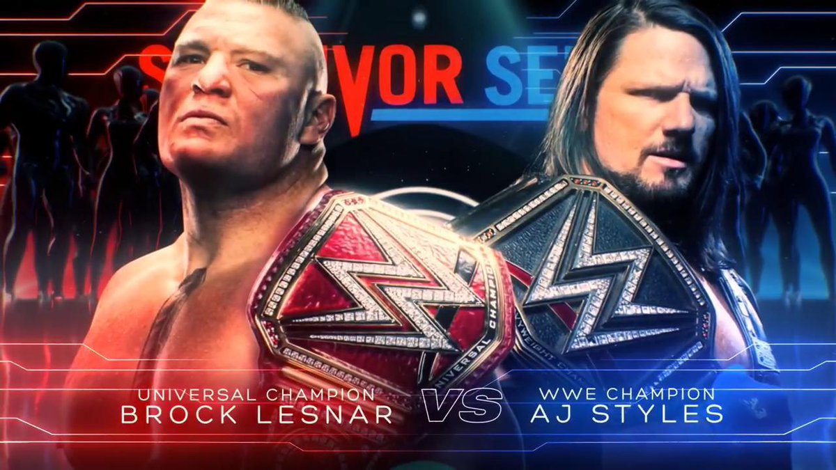 Universal Champion Brock Lesnar vs. WWE Champion AJ Styles - Survivor Series 2018