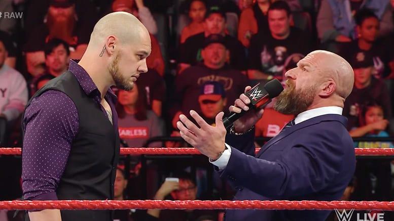 Baron Corbin Triple H RAW 2018