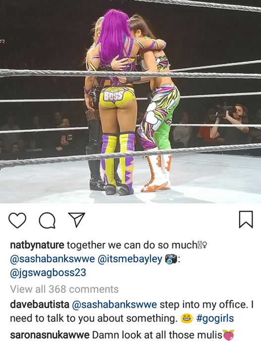 Batista Makes An Interesting Comment After Looking At Sasha Banks' A$$