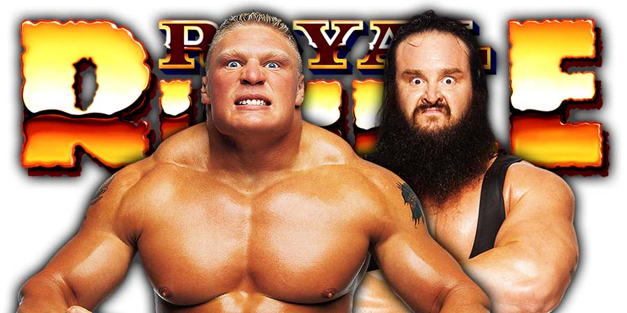 Brock Lesnar Braun Strowman Royal Rumble 2019