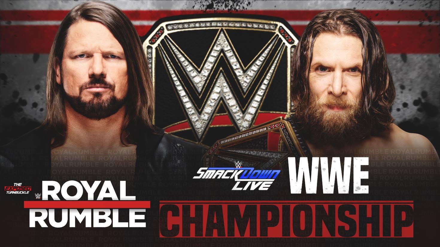 Daniel Bryan vs. AJ Styles - Royal Rumble 2019 (WWE Championship Match)