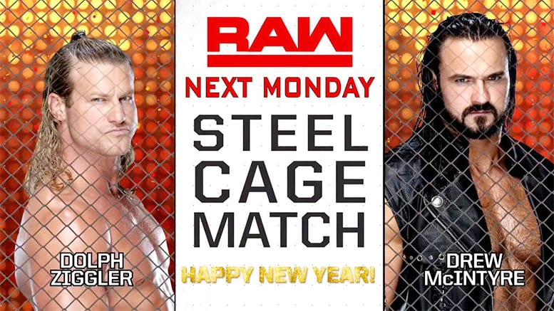 Drew McIntyre vs. Dolph Ziggler - Steel Cage Match (WWE RAW 2018)