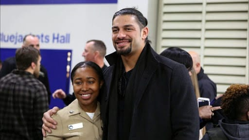 Roman Reigns backstage at WWE Tribute To The Troops 2018 tapings