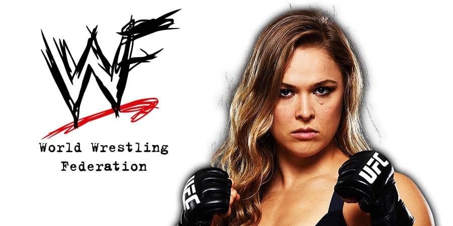 Ronda Rousey WWE WWF RAW UFC