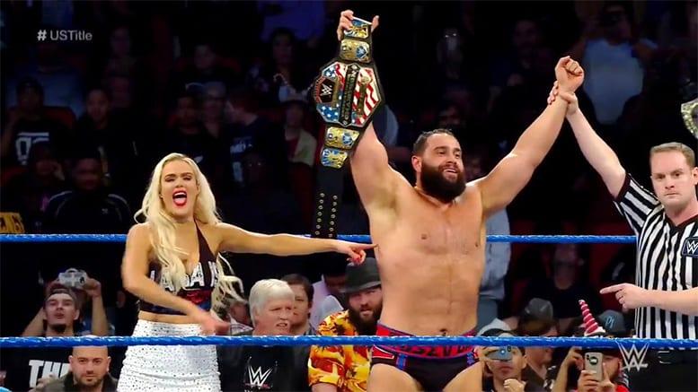 Rusev defeats Shinsuke Nakamura to win the United States Championship On SmackDown Live 2018
