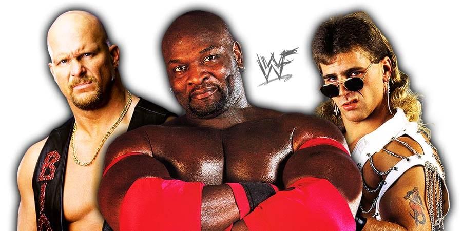 Stone Cold Steve Austin Ahmed Johnson Shawn Michaels WWF