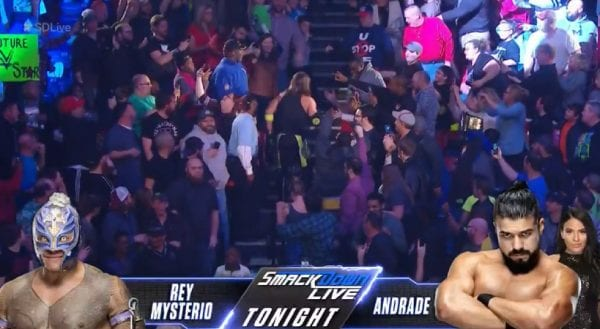 Andrade Cien Almas Name Changed To Andrade On WWE SmackDown Live 2019